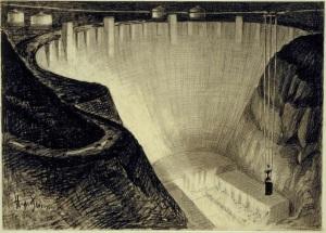 Hugh Ferris Hoover Dam