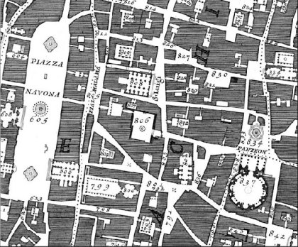 Detail of Nolli Map